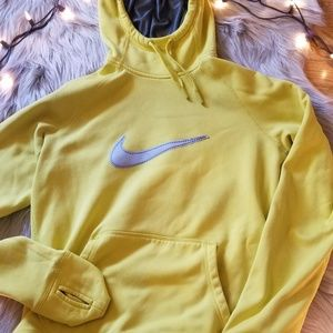 Nike Yellow Therma-Fit Hoodie Size Small
